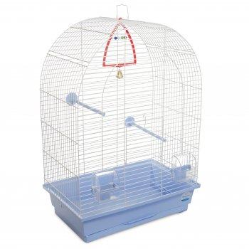 Клетка для птиц Природа Арка 44 x 65 x 28 см Белая/светло-голубая (4823082415052)