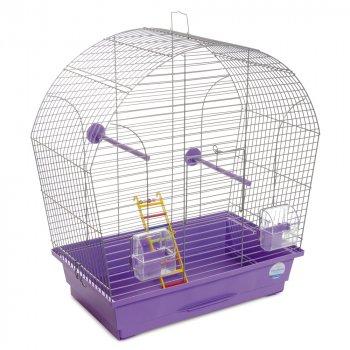 Клетка для птиц Природа Лина 51 x 55 x 27 см Хром/фиолетовая (4823082414758)