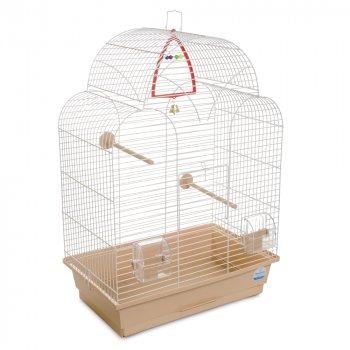 Клетка для птиц Природа Изабель-1 45 x 64 x 27 см Белая/бежевая (4823082415014)