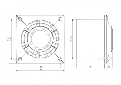 Вытяжной вентилятор Europlast L125W