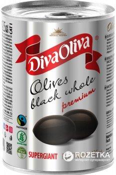 Чорні маслини Diva Oliva Platinum Супергігант з кісточкою 425 мл (5060162901503_5060162902654)