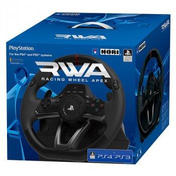 Кермо ігровий HORI PS4/PS3/PC RWA: Racing Wheel Apex Кут повороту: 270