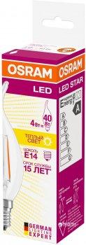 Світлодіодна лампа Osram LED Star FIL BA40 4W (470Lm) 2700K E14 (4058075055452)