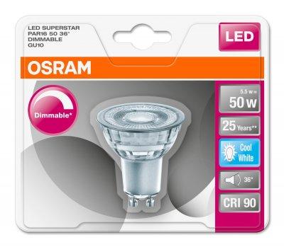 Светодиодная лампа Osram LED Superstar PAR16 DIM 50 5.5W 4000K GU10 (4052899390195)