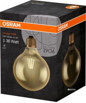 Світлодіодна лампа Osram LED 1906 Globe Gold 4.5W (420Lm) 2400К E27 (4052899962071)