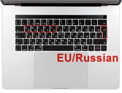 """Защитная накладка на клавиатуру MacBook Pro Air 11"""" 13"""" 15"""" 17"""" EU с русской раскладкой (8043)"""