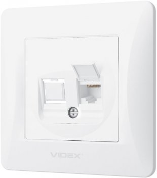Комп'ютерна розетка VIDEX Binera Біла (VF-BNSK1PC6-W)
