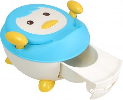 Детский горшок Babyhood Пингвин синий (BH-113B) (6923149601805)