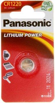 Батарейка Panasonic литиевая CR1220 блистер, 1 шт (CR-1220EL/1B)