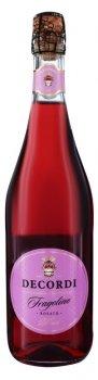 Фраголіно Decordi Rosatto рожеве напівсолодке 0.75 л 7.5% (8008820158804)