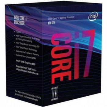 Процесор Intel Core i7-8700K LGA1151, 3.7 GHz, (BX80684I78700K) BX80684I78700K BOX SpeedStep NEW Офіційна гарантія