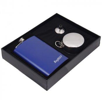 Набор Hip Flask Фляга 9oz+стаканчики+лейка Синий 71703