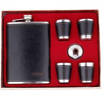 Набор Hip Flask Фляга 9oz+стаканчики+лейка Черный 61045zl