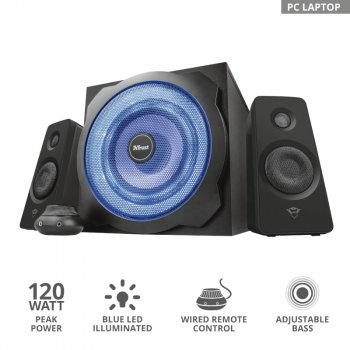 Комплект акустики 2.1 Trust GXT 628 Tytan Illuminated Speaker Set Black