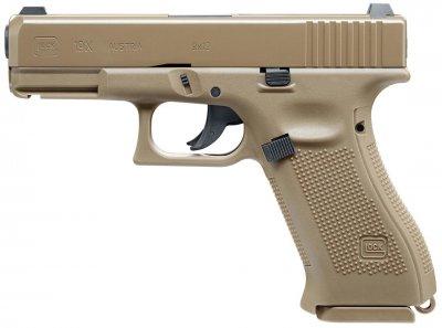 Пневматичний пістолет Umarex GLOCK 19 X FDE 4.5 мм (5.8368)