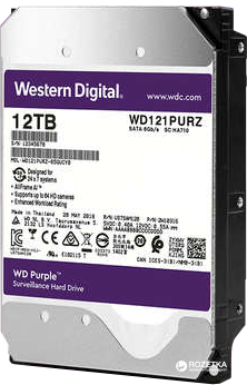 Жесткий диск Western Digital Purple 12TB 256MB 7200rpm WD121PURZ 3.5 SATA III