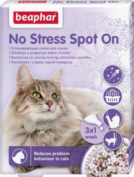 Антистрес краплі Beaphar No Stress Spot On cat для кішок 3 піпетки (13913) (8711231139132)
