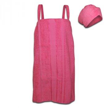Женский комплект для бани (розовый)