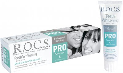 Зубная паста R.O.C.S. Pro Деликатное отбеливание Sweet Mint 135 г (4607034472184)