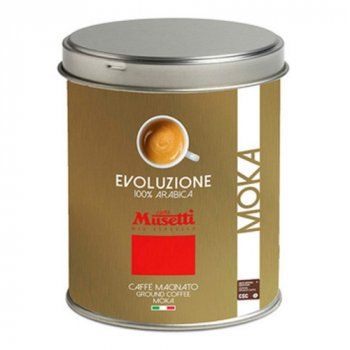 Кава Musetti Caffe Evoluzione Arabica 100% мелений ж/б 250 г