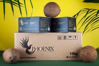 Уголь для кальянов кокосовый Phoenix 10 кг доп коробка