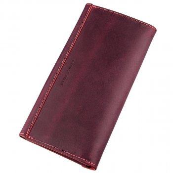 Кожаный женский кошелек Grande Pelle leather-11217 Бордовый