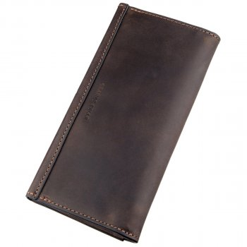Кожаный женский кошелек Grande Pelle leather-11215 Коричневый
