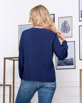 Блузка ELFBERG 5174 Темно-синя
