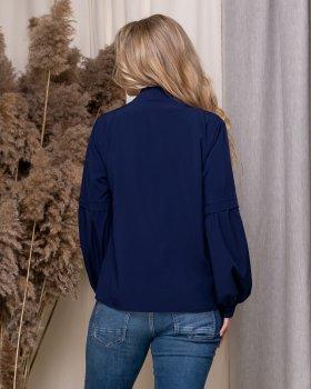 Блузка ELFBERG 5175 Темно-синя