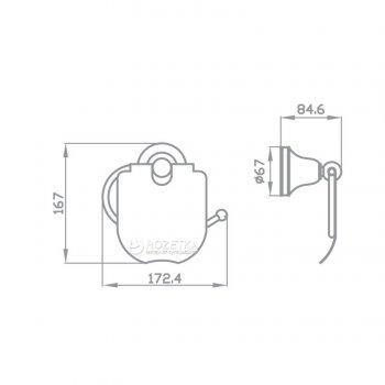 Держатель для туалетной бумаги закрытый AQUA RODOS VICTORIA 7426 керамика/хром