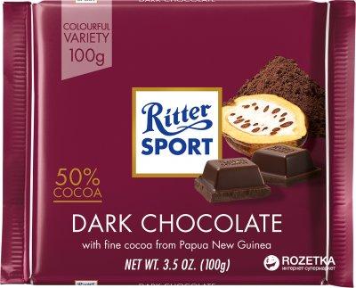 Темний шоколад Ritter Sport 100 г (4000417020000)