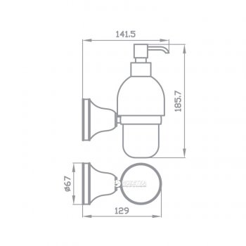 Дозатор для рідкого мила AQUA RODOS VICTORIA 7432 кераміка/хром