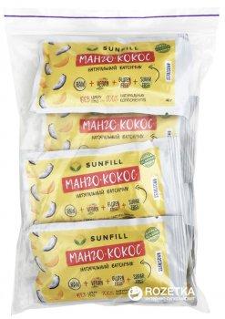Упаковка батончиков Sunfill Манго-Кокос 40 г х 10 шт (4820211260088)