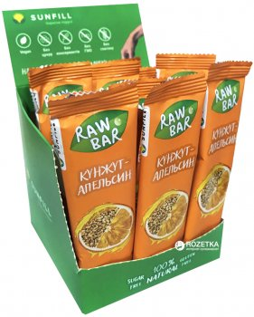 Упаковка батончиков Sunfill Апельсин-Кунжут 35 г х 30 шт (4820211260194_2200019995252)