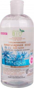 Зволожувальна міцелярна вода Pharma Bio Laboratory з оліями для зняття макіяжу 500 мл (4823080002452)