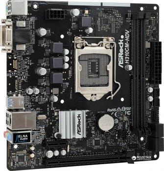 Материнська плата ASRock H310CM-DVS (s1151, Intel H310, PCI-Ex16)
