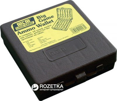 Кейс МТМ Ammo Wallet для патронов 378, 416, 470, 500NE на 10 патр. Коричневый (17730854)