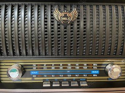 Акумуляторний радіоприймач колонка Kemai Retro (MD-1909BT) з Bluetooth і USB Black