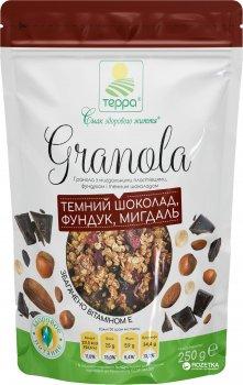 Гранола Терра з мигдальними пластівцями, фундуком та темним шоколадом 250 г (4820015735126)