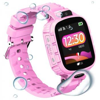 Дитячій смарт-годинник JETIX DF45 Anti-Lost Edition з GPS трекером та вологозахистом IP67 (Pink)
