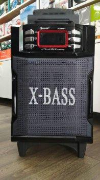 Акустическая система Bluetooth колонка чемодан комбик Golon усилитель с микрофоном Чёрная (RX-2900)