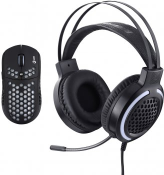 Миша Marvo MH01BK USB + гарнітура Black