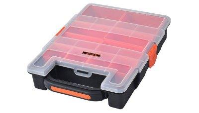 Органайзер Пластиковый Переносной с Ручкой Для(Мелочей)Метизов 31х23х6см, 10 ячеек TACTIX 320021