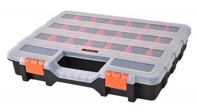 Органайзер Пластиковый Переносной с Ручкой Для(Мелочей)Метизов 38х31х6см 21 ячейка TACTIX 32000N