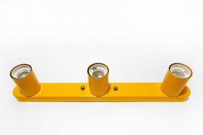 Світильник бра настінно-стельовий на 3-лампи BASE-3 E27 помаранчевий