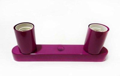 Світильник бра настінно-стельовий на 2-лампи BASE-2 E27 бордовий
