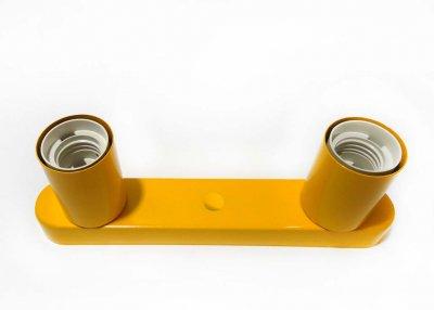 Світильник бра настінно-стельовий на 2-лампи BASE-2 E27 помаранчевий