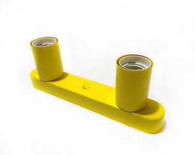 Світильник бра настінно-стельовий на 2-лампи BASE-2 E27 жовтий