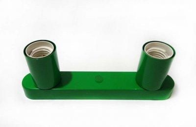 Світильник бра настінно-стельовий на 2-лампи BASE-2 E27 зелений