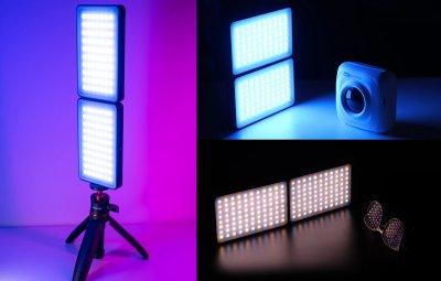 Накамерне світло RGB LED складане Vijim R316 з регулятором яскравості світлодіодна панель
